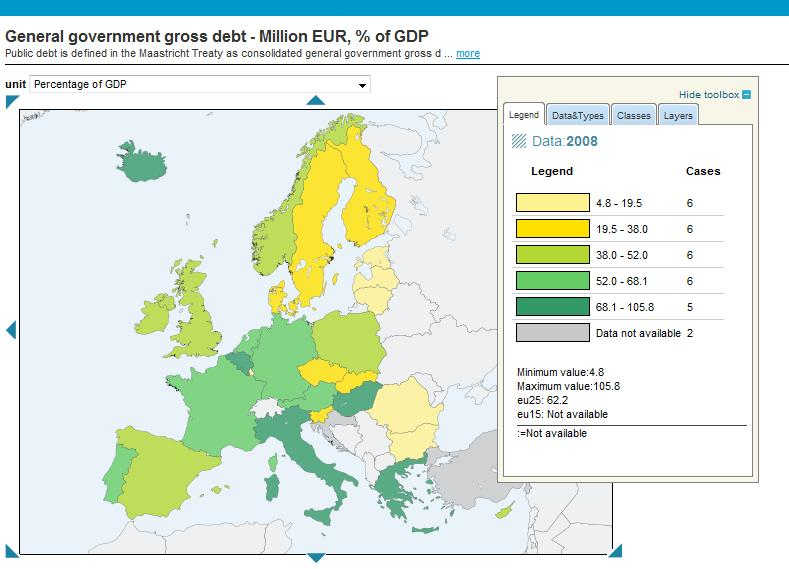 EU government debt 2009